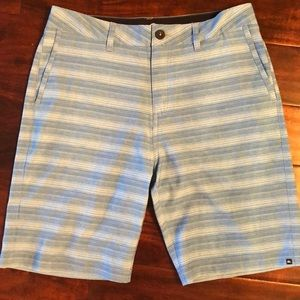 QUIKSILVER Amphibian Blue & White Striped Shorts